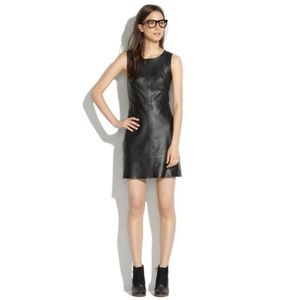 Madewell leather panelled dress